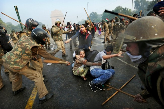 Daily Beast Photo from Delhi, India Protest Tamasha