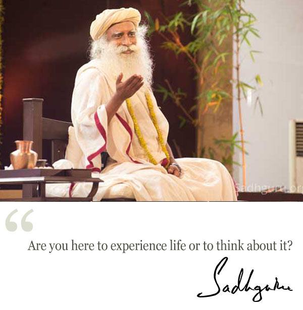Advice from Sadhguru